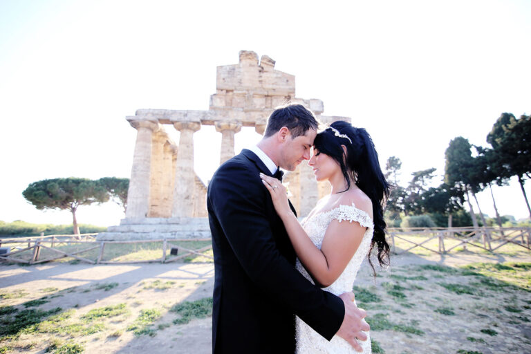 Destination Wedding Catholic Paestum Cilento Wedding Venues Temple Archaeological Park Paleochristian Basilica Our Lady of Annunciation Claudia Francese Photography Sisters