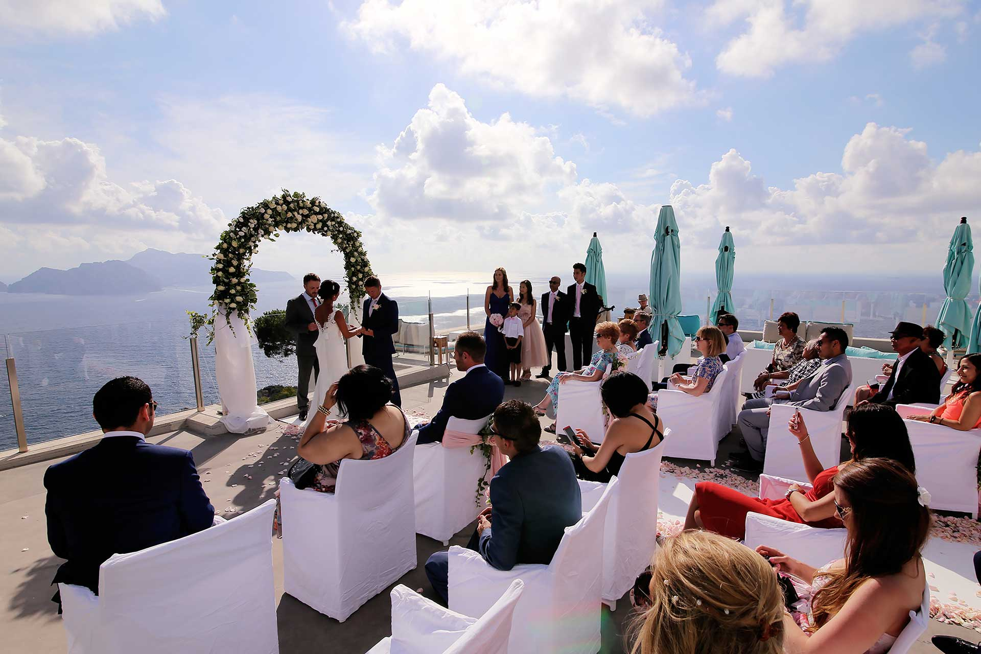Luxury Destination Symbolic Wedding Hotel Relais Blu Boutique Massa Lubrense Sorrento Reception Venues Amalfi Coast Italy Claudia Francese Photography Sisters Planner Photographer