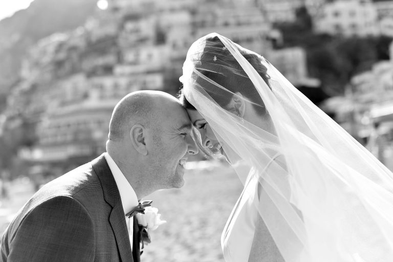 Catholic Wedding in Positano Santa Maria Assunta Positano Reception O Parrucchiano Sorrento Amalfi Coast Italy Claudia Francese Photography Sisters