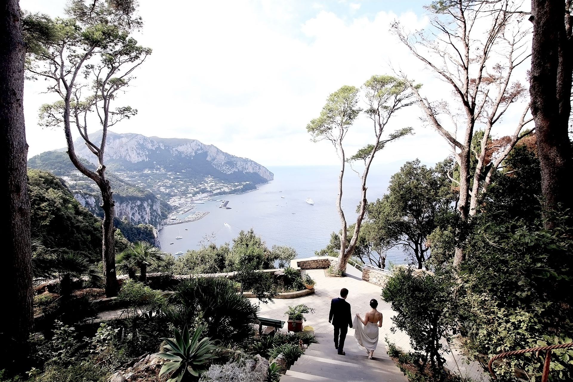 Destination Civil Symbolic Blessing Vows Protestant Wedding in Capri Villa Lysis Claudia Francese Photography Sister