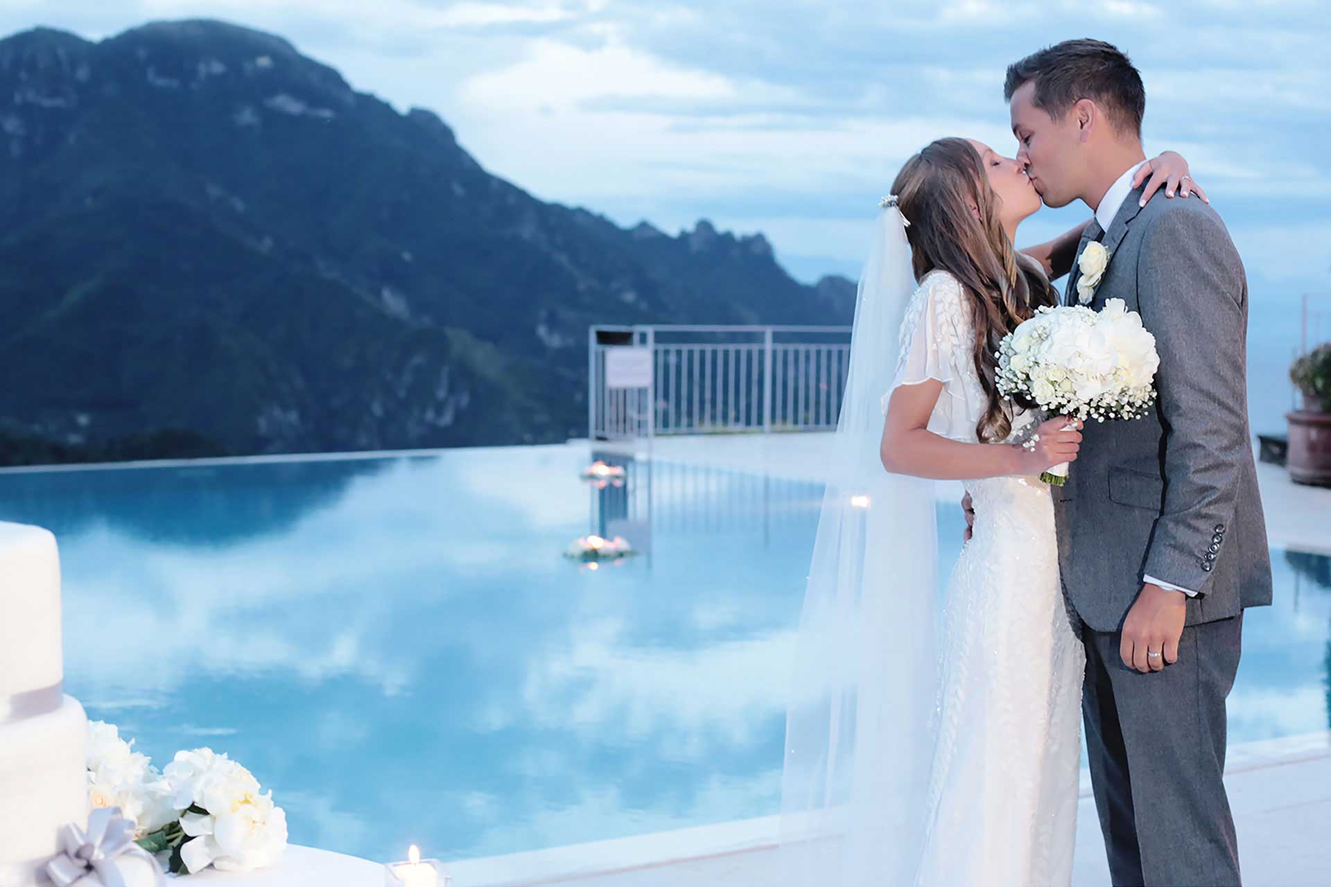 Destination Civil Symbolic Protestant Vows Blessing Jewish Wedding Photographer Hotel Caruso in Ravello Amalfi Coast Italy Claudia Francese Photography
