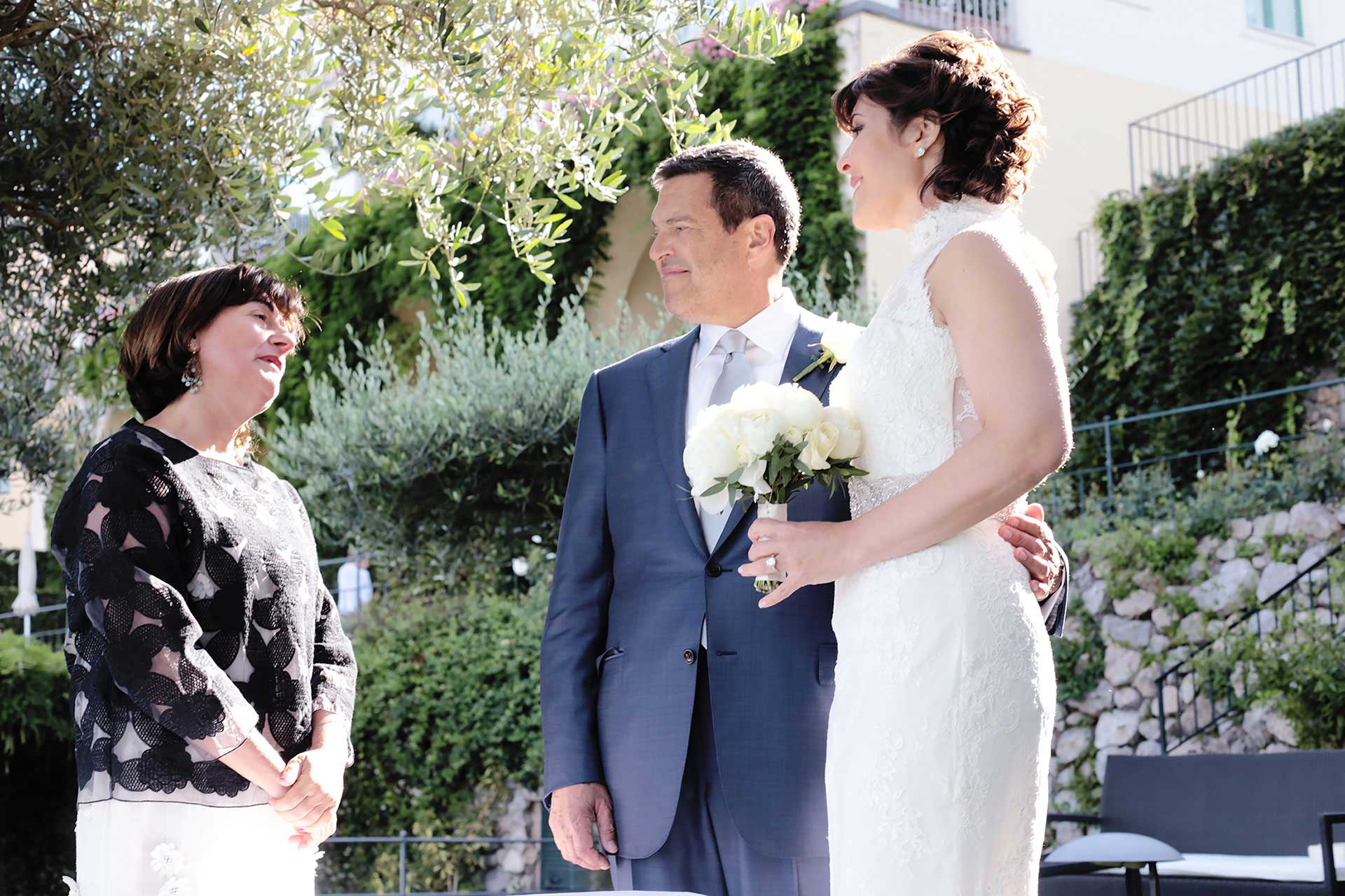 Destination Civil Symbolic Protestant Vows Blessing Jewish Wedding Photographer Hotel Caruso in Ravello Amalfi Coast Italy Claudia Francese Photography Sisters