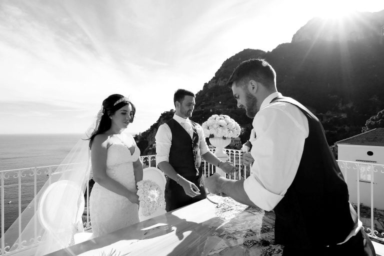 Destination Civil Wedding Photographer Positano Best Hotel in Sorrento Coast Italy Francese Photography Sisters