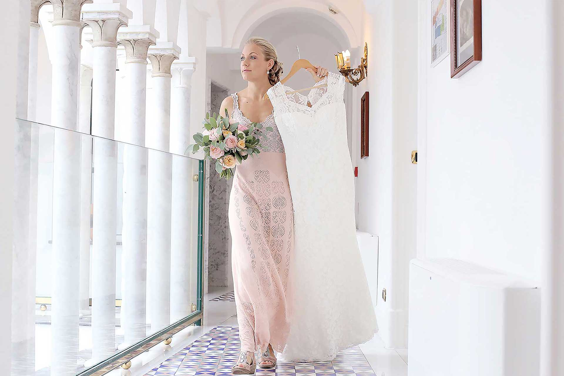 Destination Luxury Elopement Civil Protestant Symbolic Catholic Indian Ceremony Hotel Palazzo Avino Location Wedding Photographer Planner Claudia Francese Photography Sisters