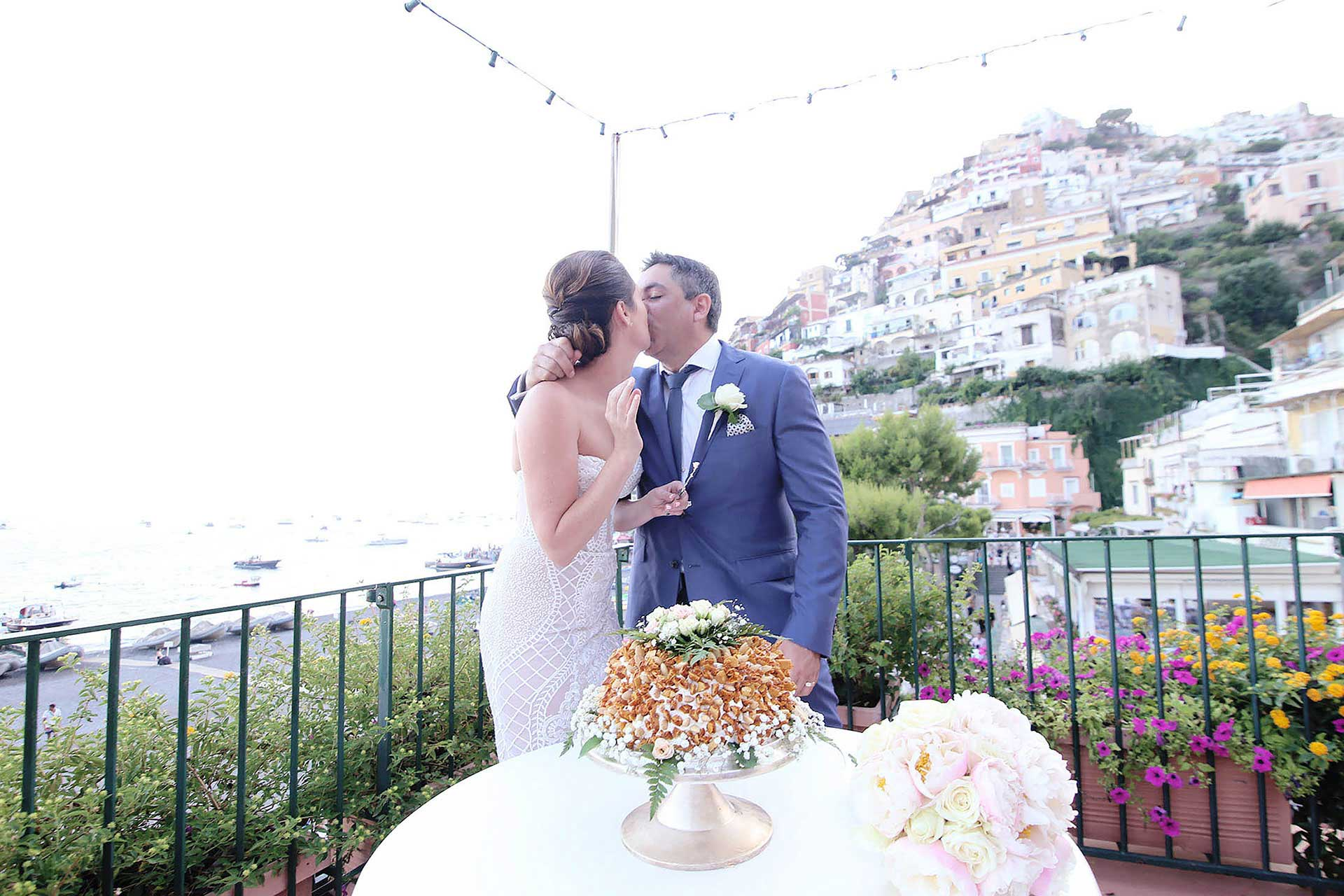 Destination Symbolic Wedding Hotel Buca di Bacco Positano Shooting Village Amalfi Coast Italy Restaurant Claudia Francese Photography Sister