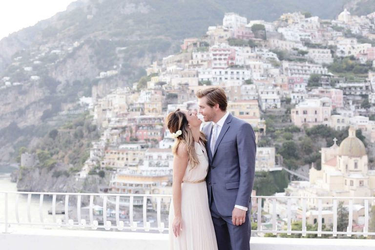 Destination Symbolic Wedding Hotel Marincanto Positano Amalfi Coast Italy Reception at Hotel Marincanto Terrace Venue Wedding Location Claudia Francese Photography