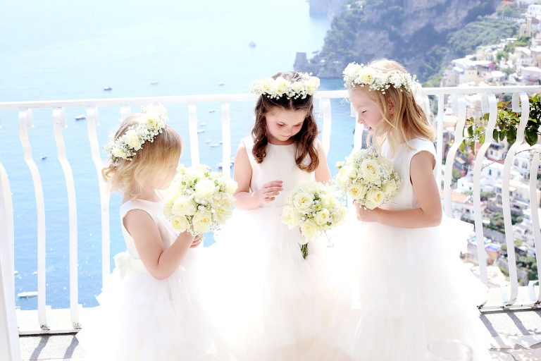 Destination Wedding Photographer Villa Oliviero Private Villa Event Positano Amalfi Coast Catholic Wedding Santa Maria Assunta Claudia Francese Photography Sisters