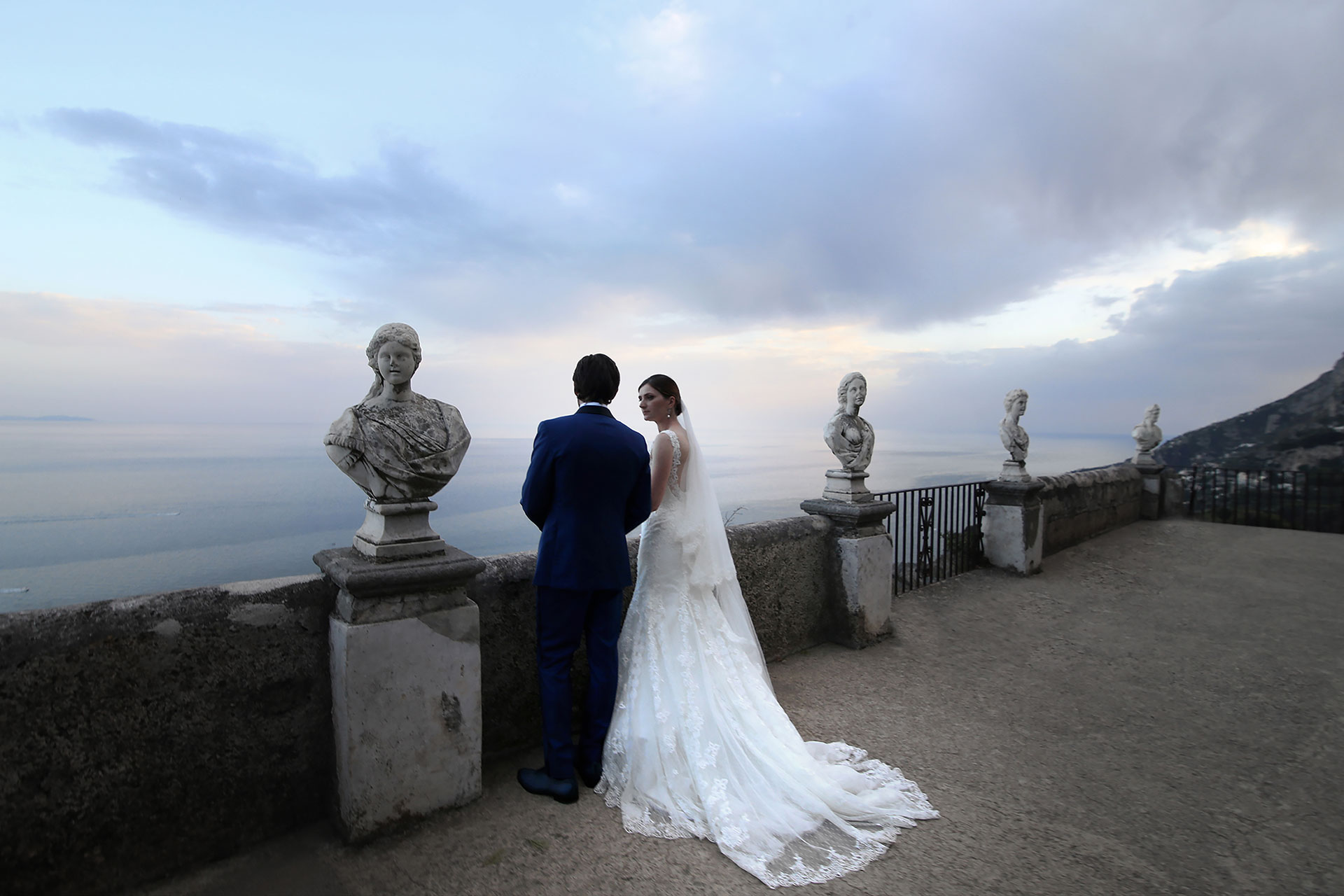 Jewish Vows Symbolic Civil Protestant Blessing Elopement Wedding in Ravello Villa Cimbrone Amalfi Coast Claudia Francese Photography Sisters