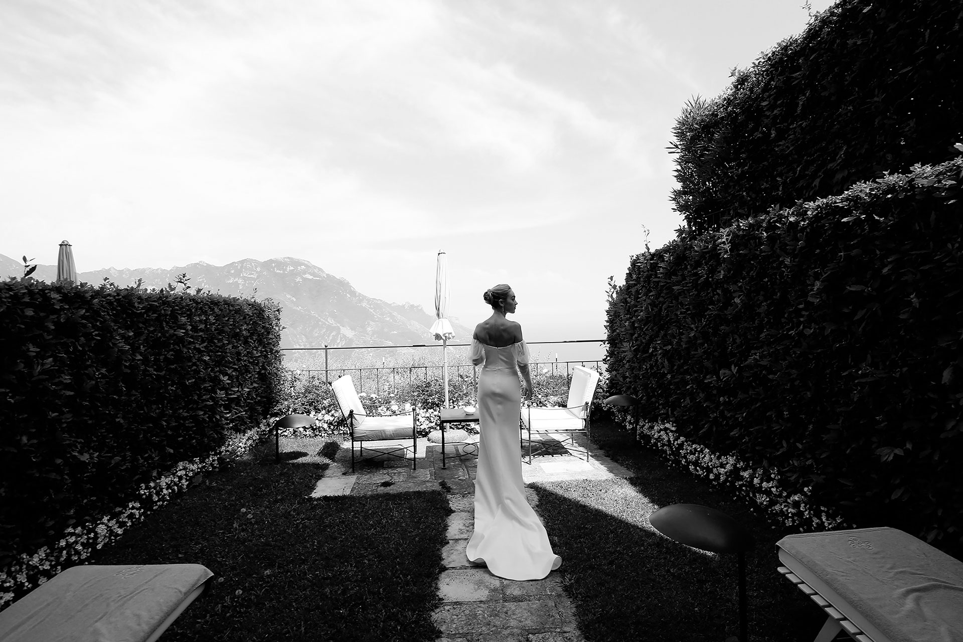 Civil Infinity Pool Party Wedding in Positano Town Hall Positano Reception Praiano Amalfi Coast Italy Claudia Francese Photography Sisters