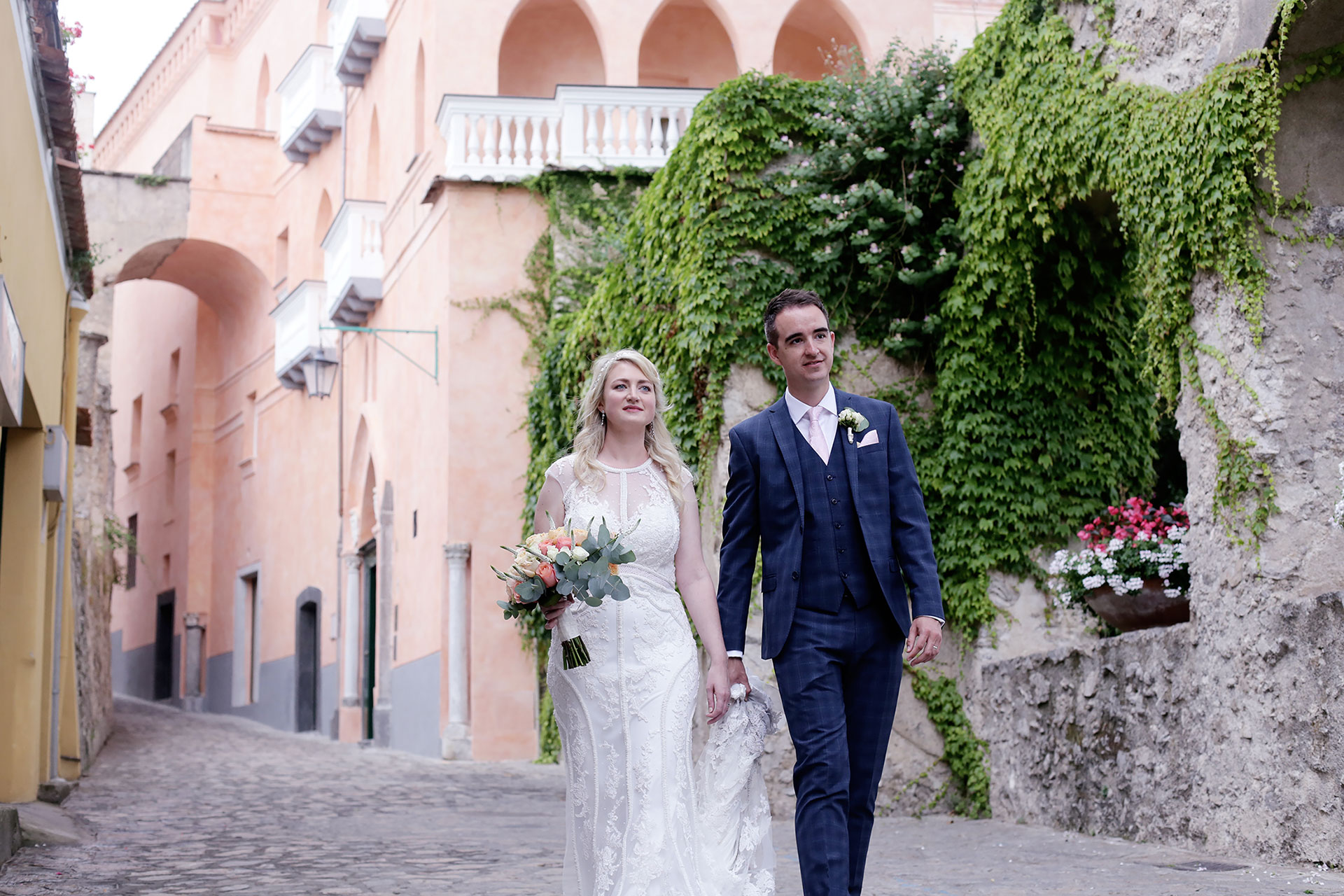 Luxury Destination Civil Wedding Ravello Giardini della Principessa Villa Eva Reception Venues Amalfi Coast Italy Claudia Francese Photography Sisters Planner Photographer