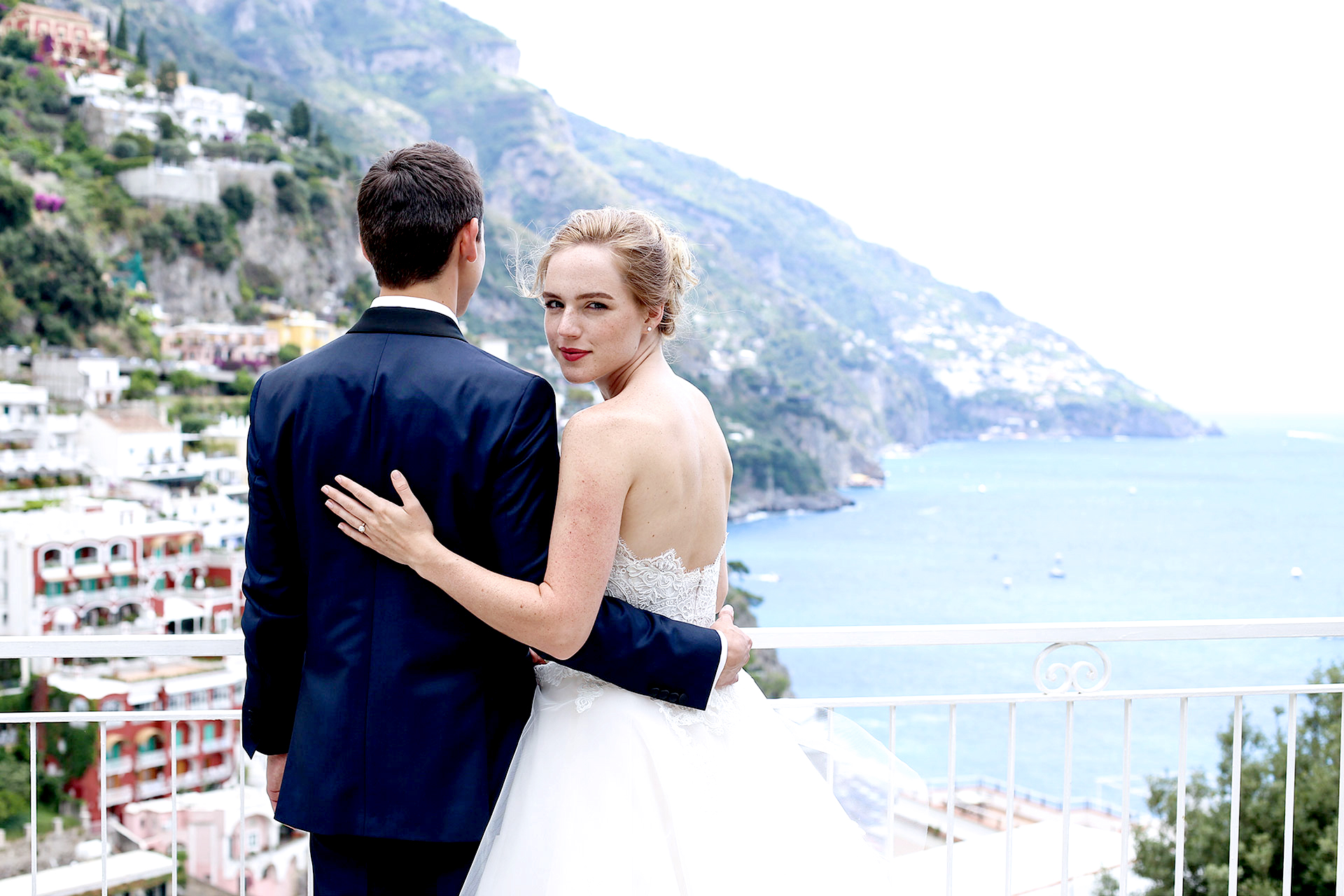 Luxury Destination Wedding Photographer Amalfi Coast Catholic Wedding Positano Shooting Reception La Tagliata Monte Pertuso View Claudia Francese Photography Sisters