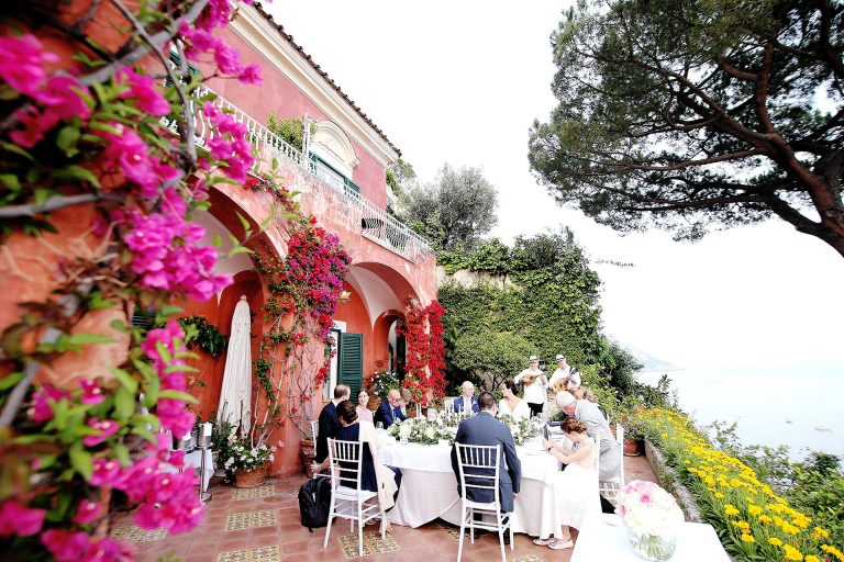 Luxury Destination Wedding Photographer Amalfi Coast Symbolic Wedding Positano Shooting Reception Hotel Marincato Positano View Claudia Francese Photography Sisters