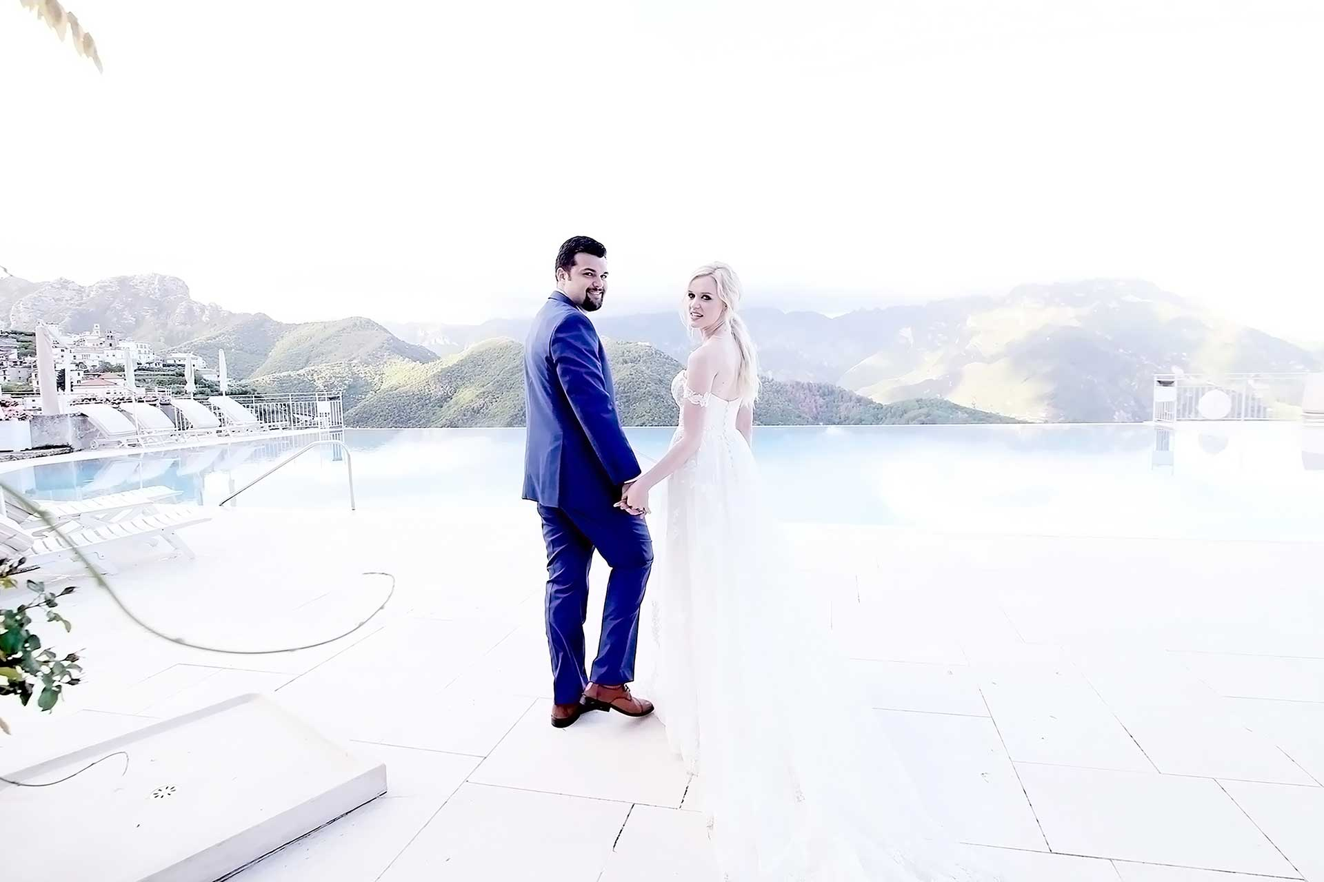 Luxury Protestant Destination Catholic Symbolic Protestant Vows Wedding Photographer Planner in Ravello Hotel Caruso Belmond Ravello Amalfi Coast Italy Claudia Francese Photography Sisters