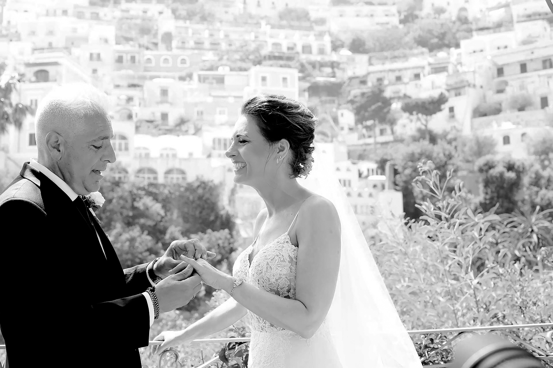 Luxury Symbolic Blessing Protestant Jewish Indian Vows Ceremony Wedding Best Photographer Wedding in Positano Reception Restaurant Hotel Palazzo Murat Claudia Francese Photography Sisters