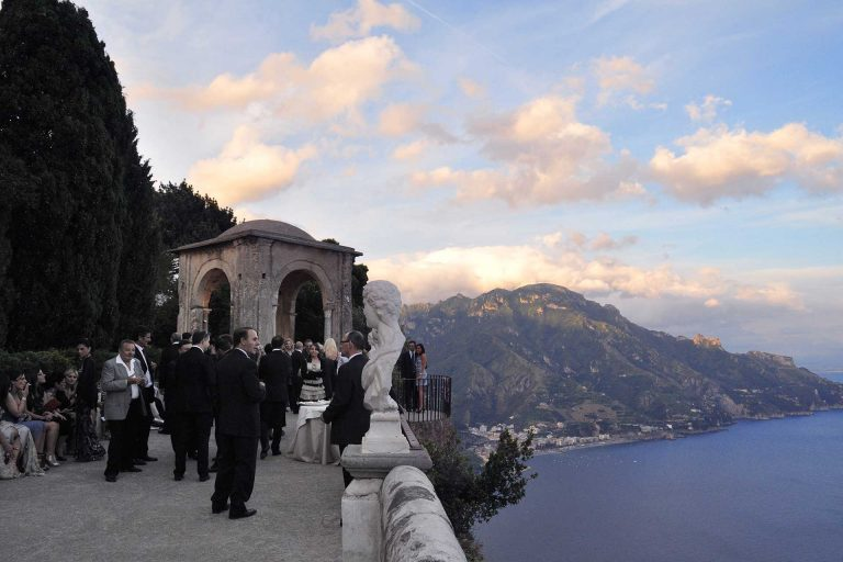Catholic Wedding Duomo Ravello Amalfi Coast Villa Cimbrone Venue Destination Location Francese Photography Sisters