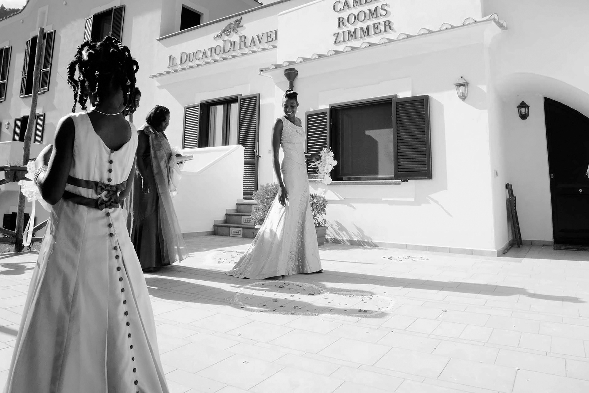 Indian Ceremony Wedding Cook School Ravello Amalfi Coast Venue Location Photographer Claudia Francese Photography Sisters