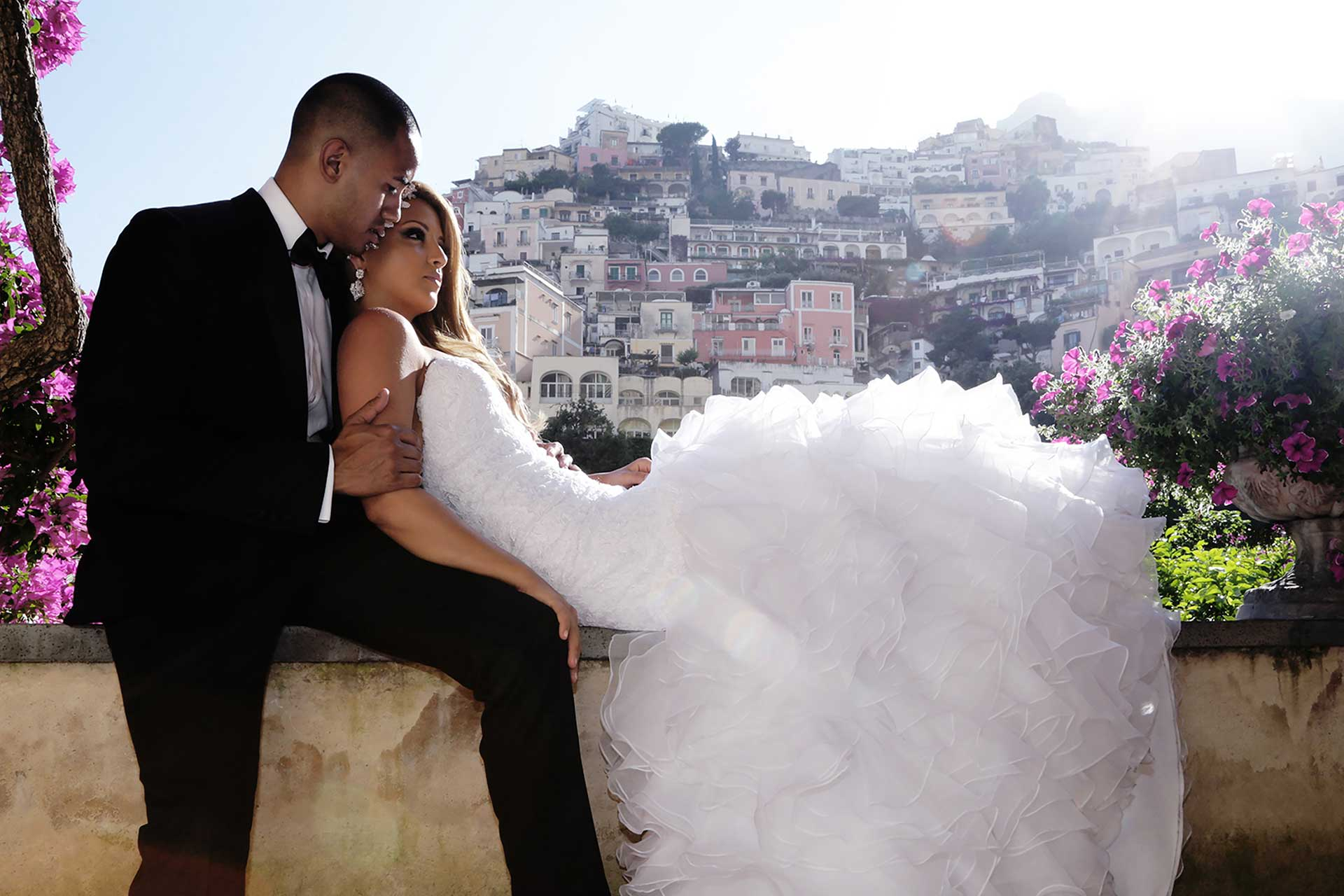 Symbolic Wedding Positano Amalfi Coast Marincanto Best Photographer Claudia Francese Photography Sisters