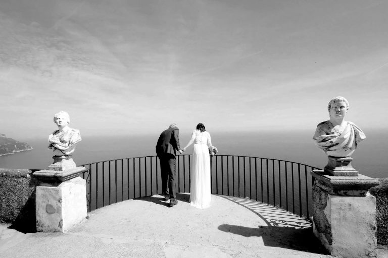 Symbolic First Look Wedding Photos Villa Cimbrone Ravello Amalfi Coast Santa Caterina Amalfi Claudia Francese Photography Sisters